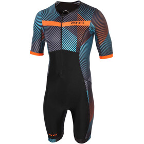 Zone3 Activate+ Combinaison de triathlon manches courtes Homme, momentum/blue/grey/orange